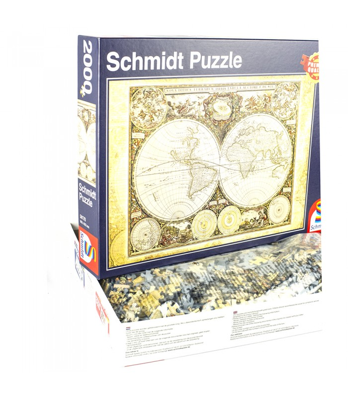 Historical world map puzzle