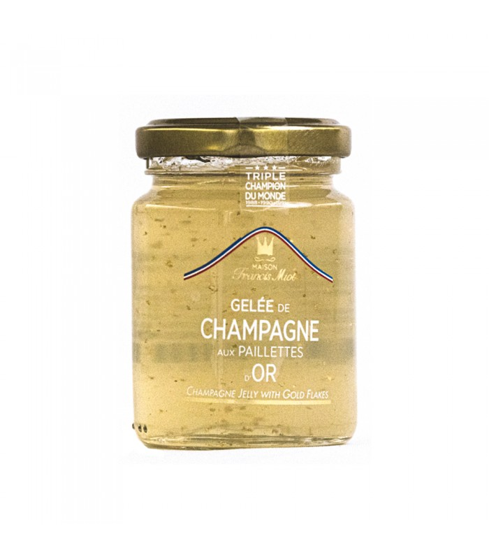 Jelly of Champagne with specks of gold
